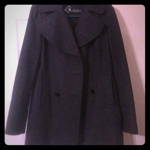 Gray Guess Pea Coat size Medium
